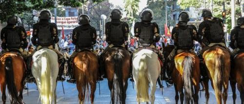 Policing of World Cup 2014 protest in Brazil: photo: mediaNINJA