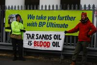 Brighton BP Tar Sands Protest banner