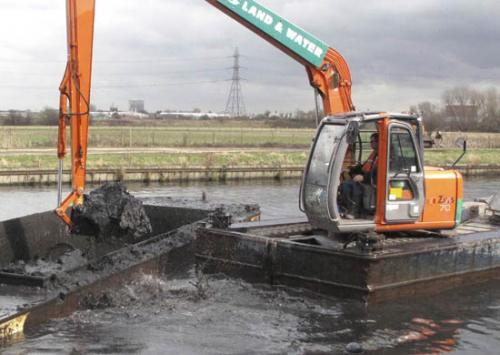 . Recent dredging of the Lee Navigation