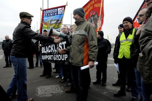 Frank Morris speaks out: The demonstration outside the Olympic site on 1st March called in solidarity with the courageous whistleblower sacked for standing up for an illegally blacklisted workmate.