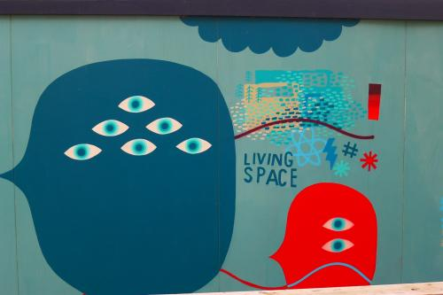 'Living Space', possibly a rather unfortunate expression given some were removed to make way for others