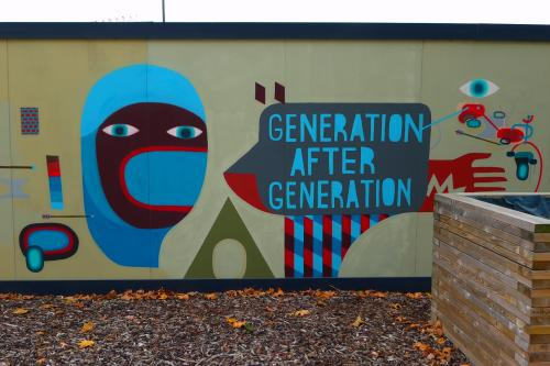 Generation Rent or Gentrification after Regeneration? no wonder the guy's getting it in the neck with another arrow
