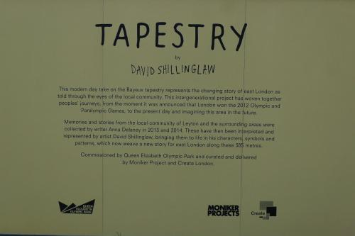 Bayeux Tapestry - how appropriate, a tale of conquest, destruction and theft