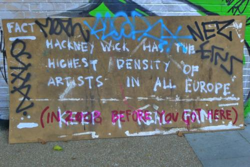 Hackney Wick has greatest density of artists in ALL Europe