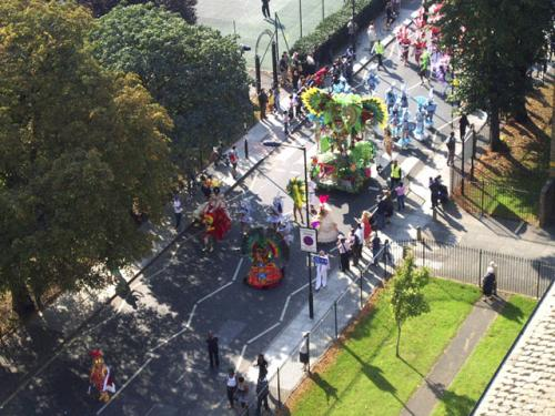 'Hackney One Carnival': Streets lined with spectators as the 'Hackney One Carnival' passes London Fields