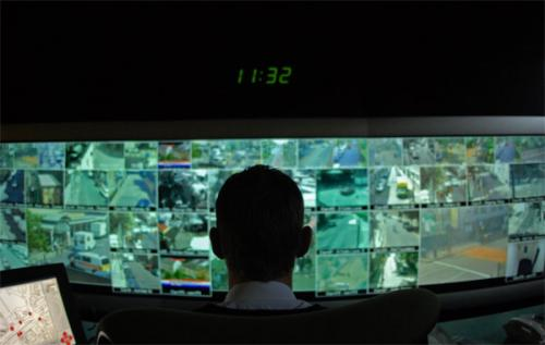 CCTV Control Centre in Tower Hamlets London.