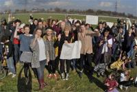 Locals Protest Olympic basketball courts 1