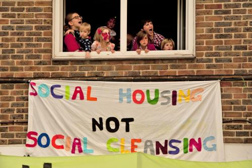 Focus E15 Open House occupation on the Carpenters Estate: Photo: Martin Slavin from Housing worldclassgamesin.london