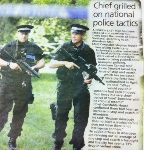 Police Scotland's militarisation has come under scrutny