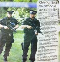Police Scotland's militarisation has come under scrutiny