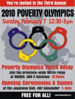 3rd Annual Vancouver Poverty Olympics poster/flyer