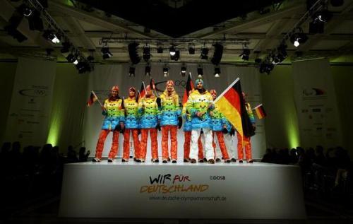 Germany's rainbow costumes for Sochi 2014