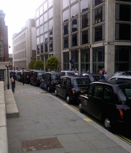 Taxis flash-demo LOCOG: 9th Sepember 2011 Grange Hotel, St Pauls  see http://gamesmonitor.org.uk/blog/1365